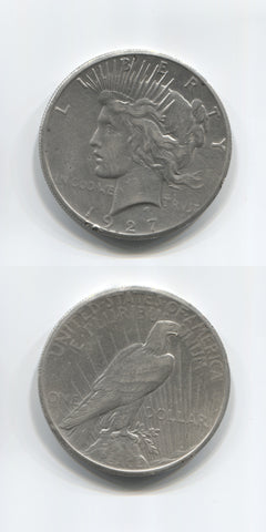 1927 P USA Silver Peace Dollar AEF