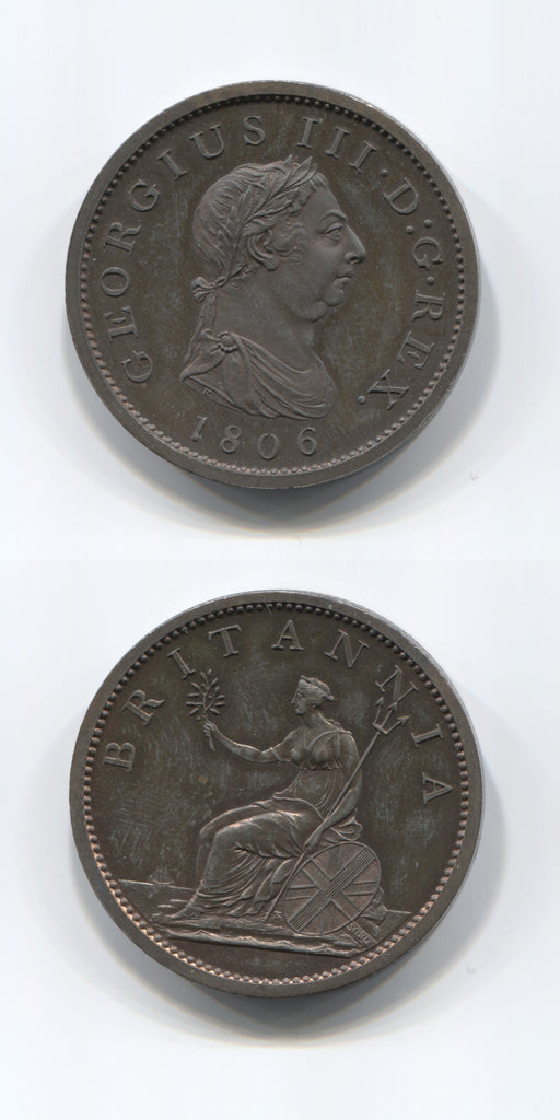 1806 George 3 Copper Proof Penny UNC
