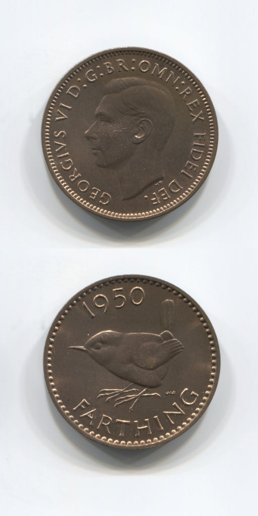 1950 Proof Farthing UNC