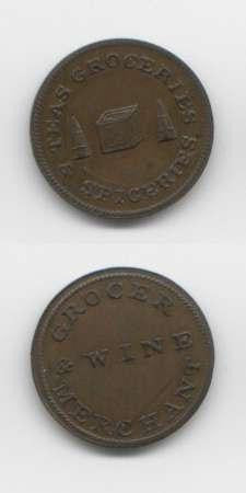 1820 Scotland not local EF Tokens 18/19 Th Century Scottish