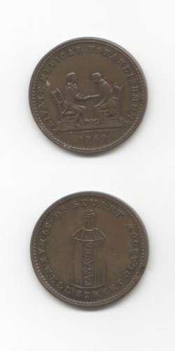 1840 Dr Stuart GVF Tokens 18/19 Th Century Scottish