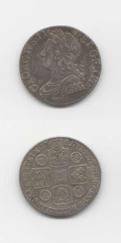 1741 George 2 GVF Shilling