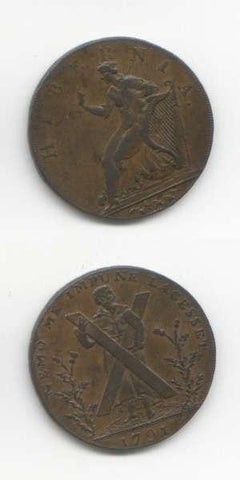1791 Lothian GVF Tokens 18/19 Th Century Scottish