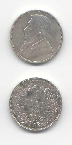 1894 Shilling VF World Coins South Africa