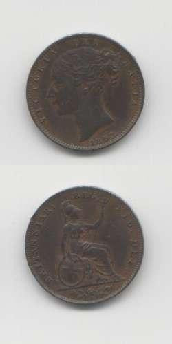 1853 Victoria VF Farthing