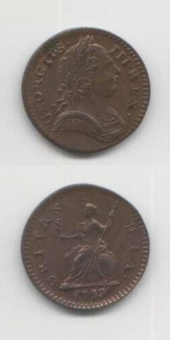 1773 George 3 EFAEF Farthing