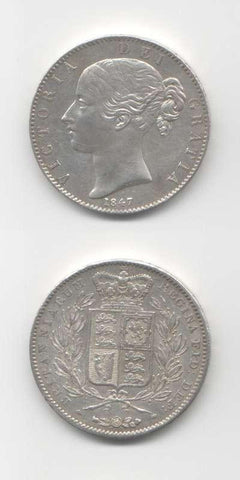 1847 Victoria AEF English Crown