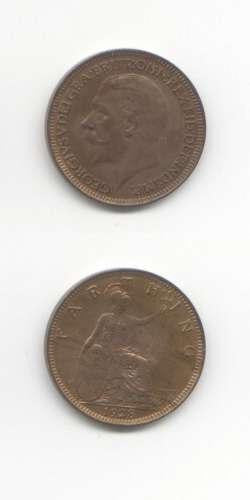 1928 George 5 UNC Farthing