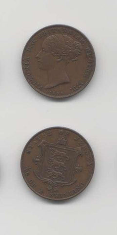 1858 1/26 th Shilling AUNC World Coins Jersey