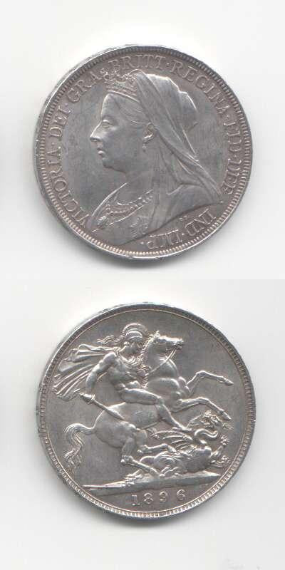 1896 Victoria GEF English Crown