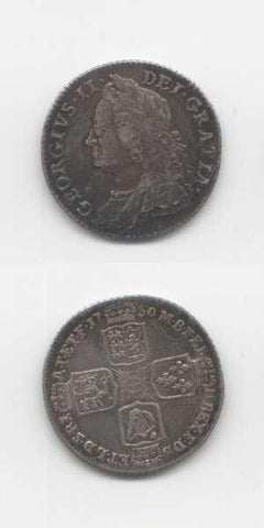 1750 George 2 GVF Shilling
