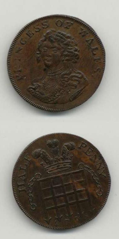 1795 Middx GVF Tokens 18th  Century