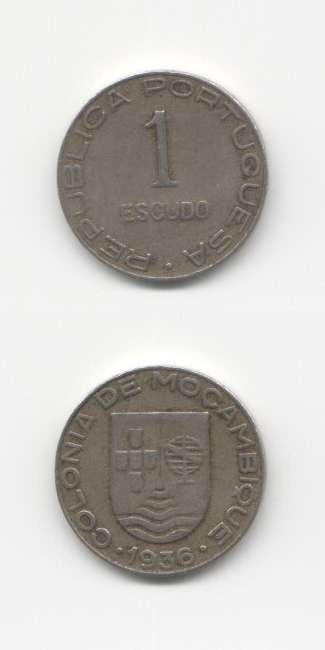 1936 Mozambique GVF World Coins Misc