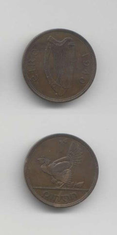 1940 Penny AEF World Coins Ireland