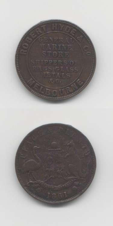 1861 Melbourne VF World Coins Australia