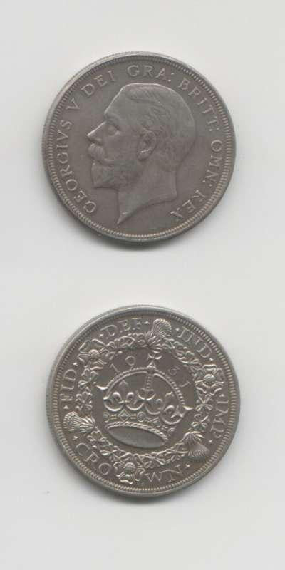 1931 George 5 GEF English Crown