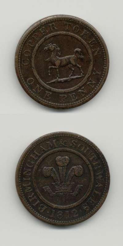1812 Warwickshire GVF Tokens 18th  Century