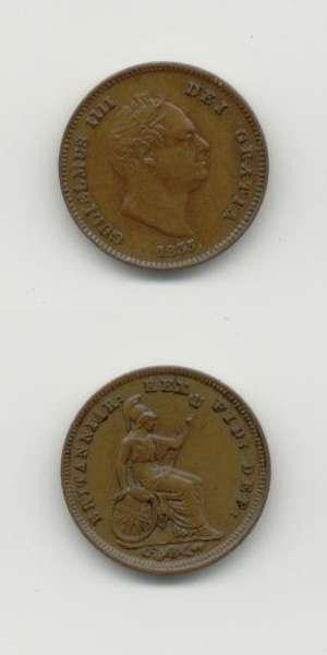 1835 William 4 UNC Farthing