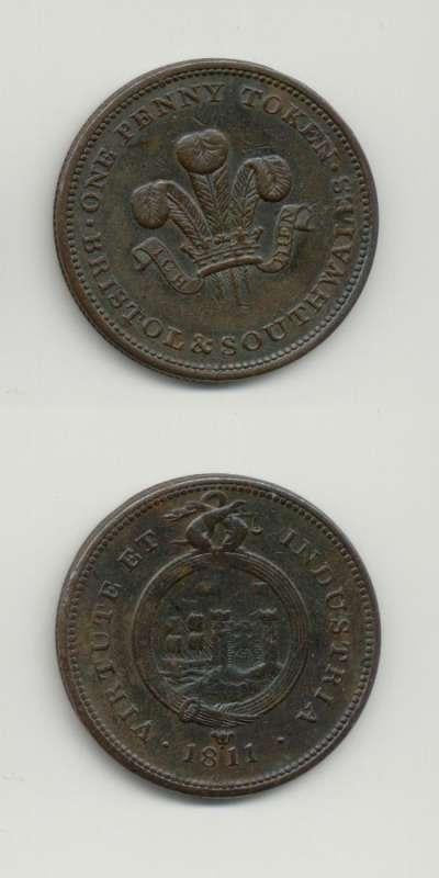 1811 Somerset GVF Tokens 18th  Century