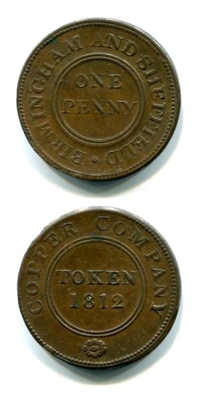 1812 Warks GVF Tokens 18th  Century