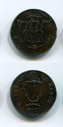 1796 Lothian AEF Tokens 18/19 Th Century Scottish