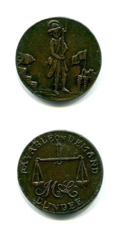 1795 Angusshire GEF Tokens 18/19 Th Century Scottish