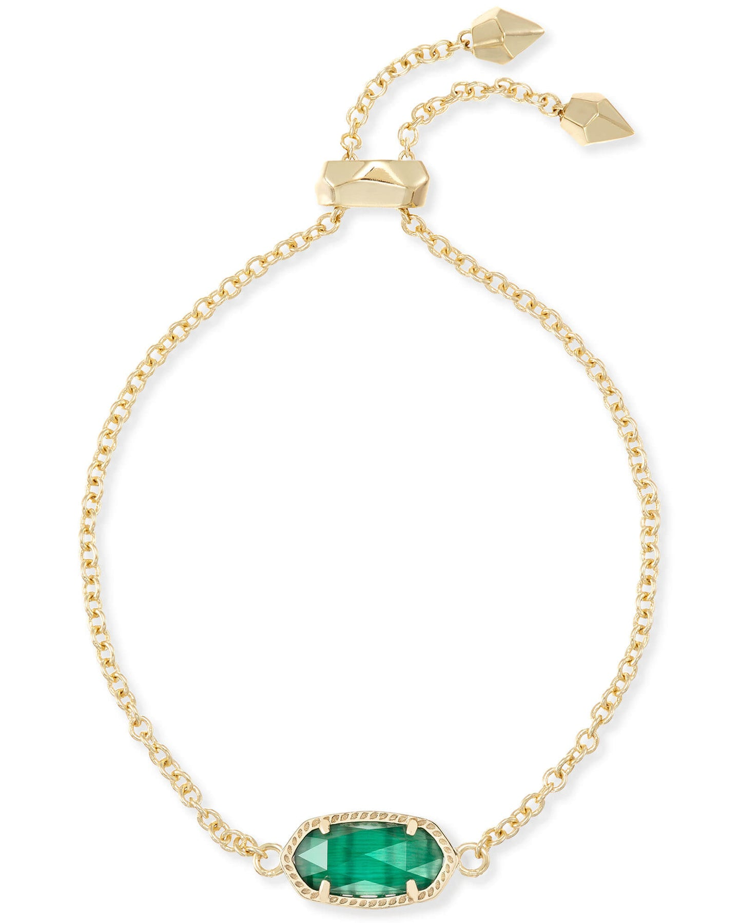 Kendra Scott Elaina Bracelet - Gold Emerald Cats Eye