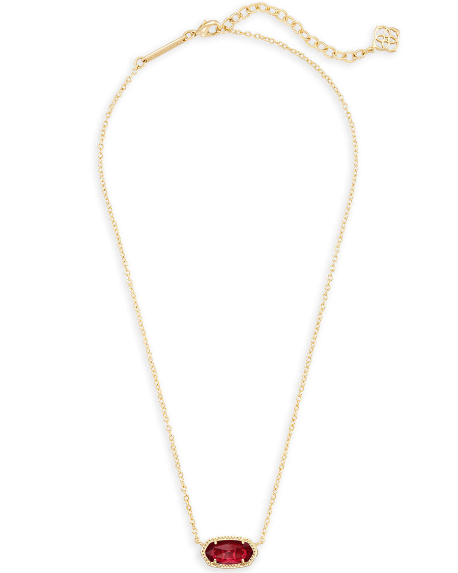 Kendra Scott Elisa Necklace Gold Clear Berry