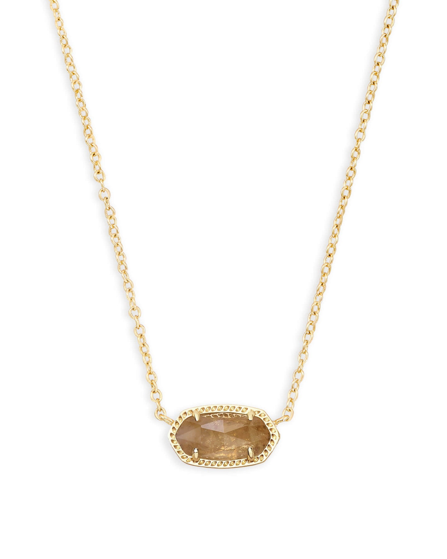 Kendra Scott Elisa Necklace Gold Orange Citrine Quartz