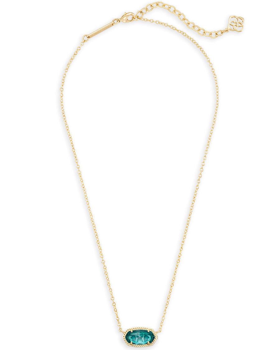 Kendra Scott Elisa Necklace - Gold London Blue