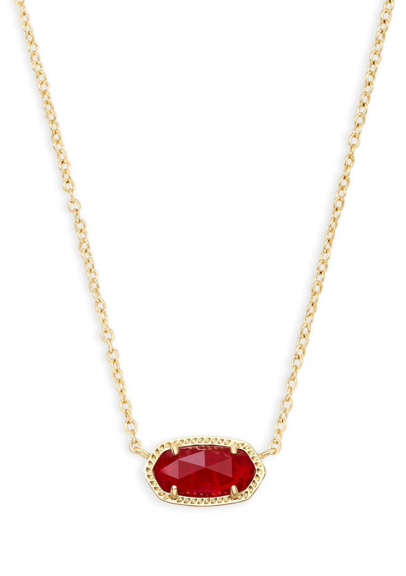 Kendra Scott Elisa Necklace - Gold Ruby