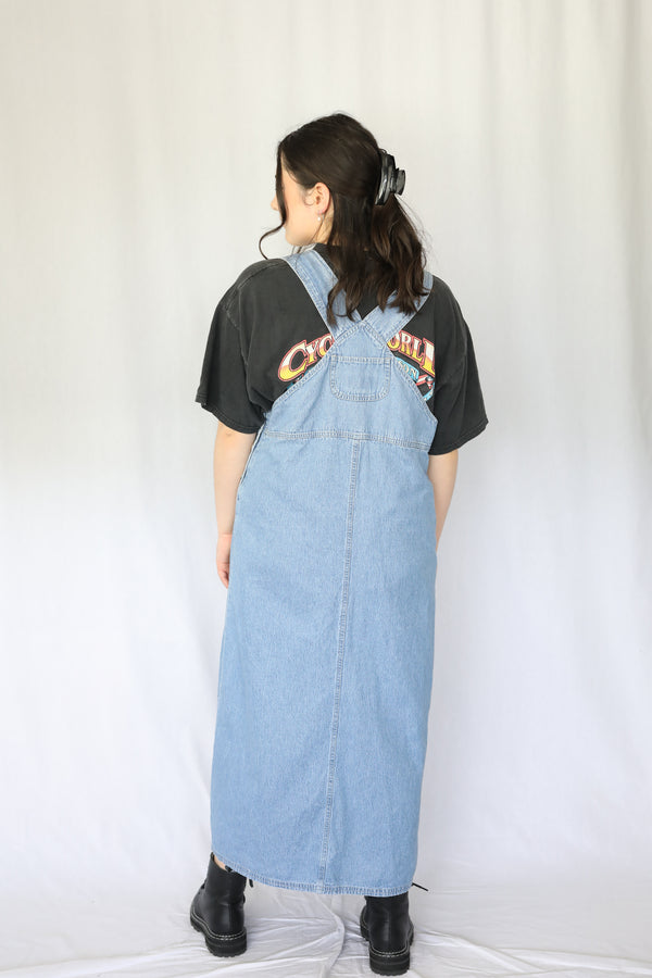 Vintage denim pinafore dress