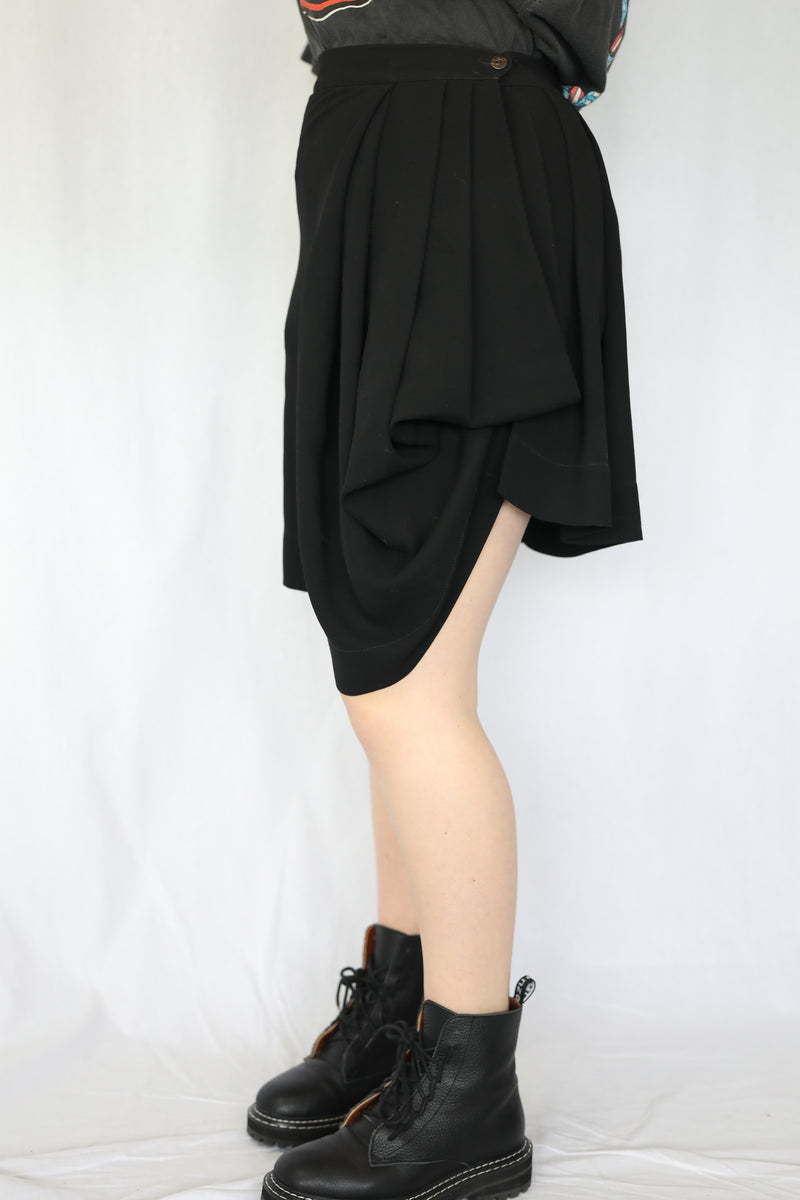 Pleated Back Skirt