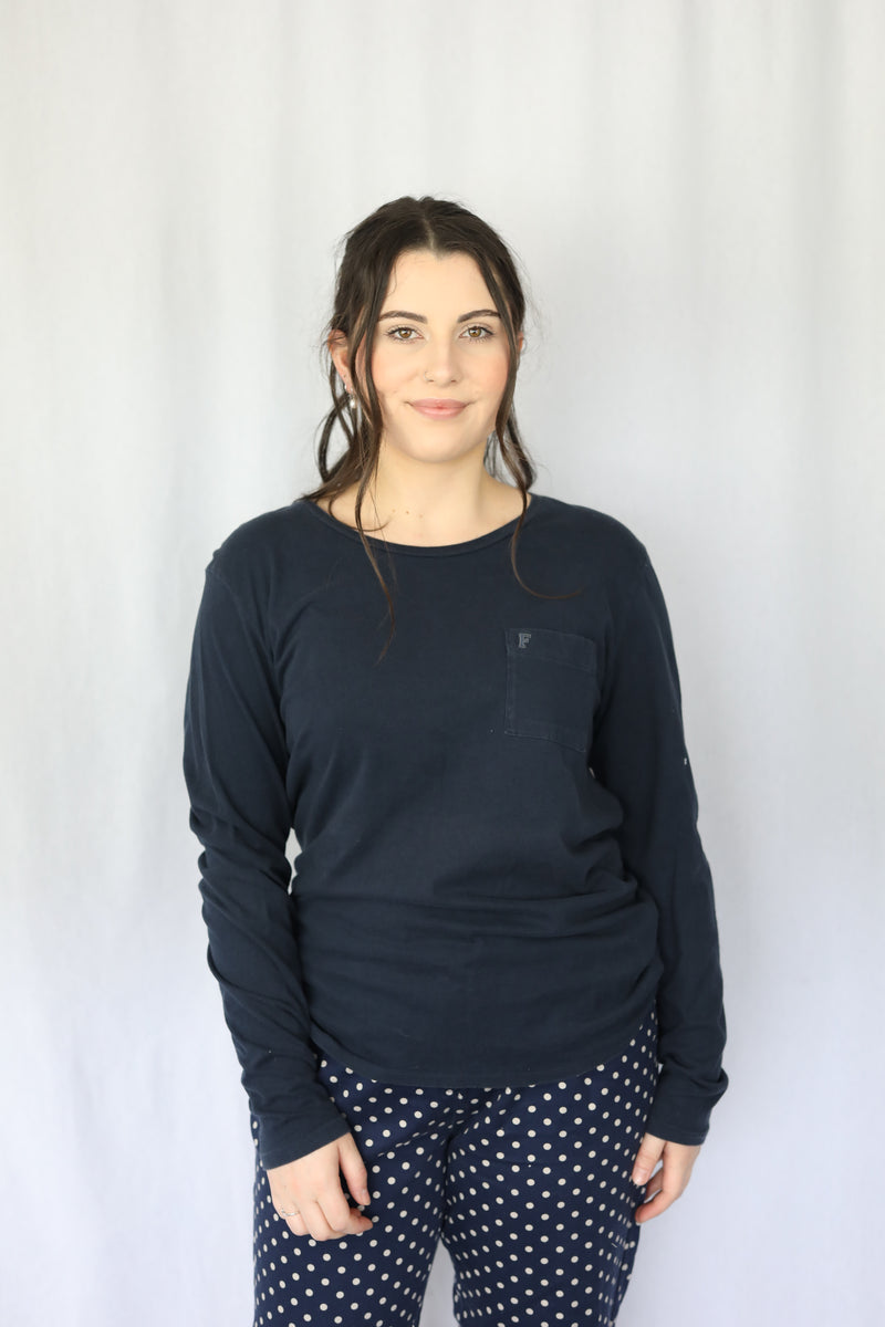 Long Sleeve with Embroidered Pocket
