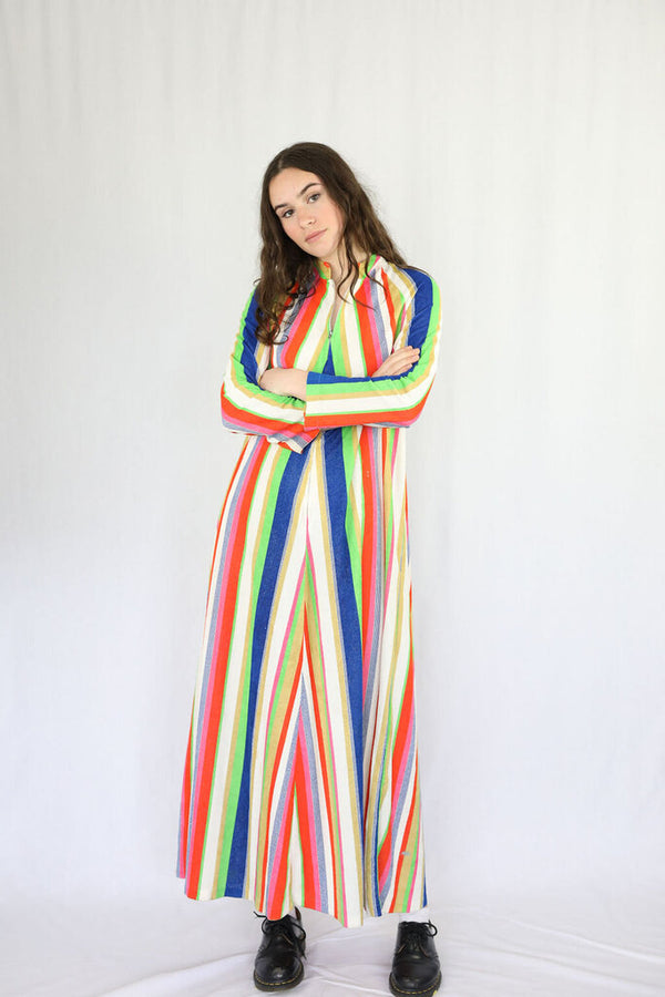Vintage terry towelling technicolour dress