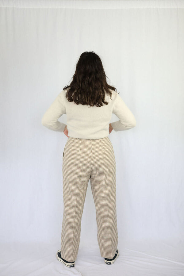 Vintage wool gingham pants
