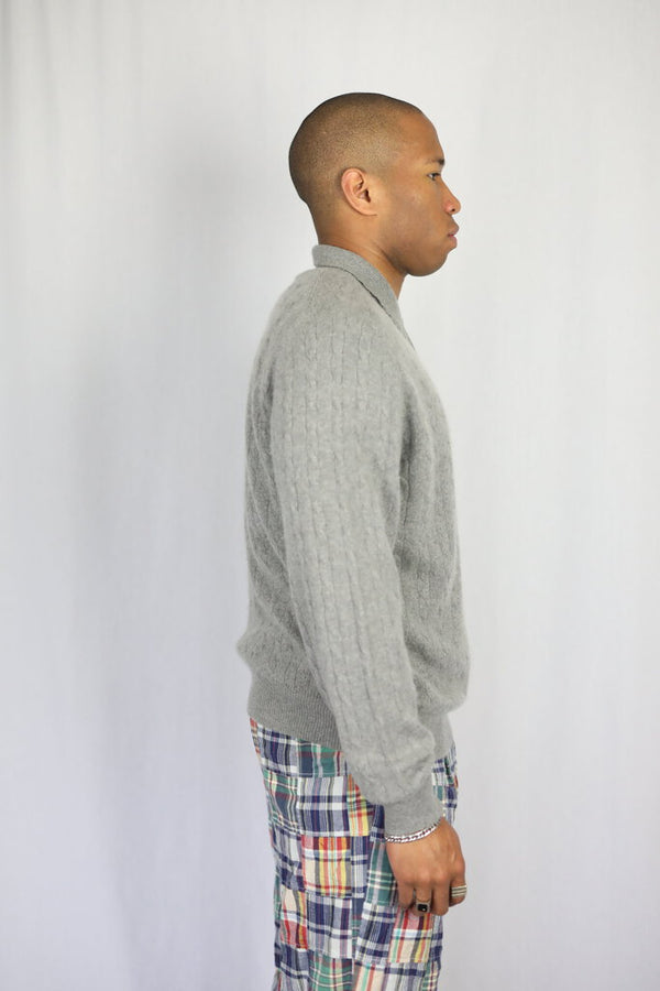 Cashmere knit polo