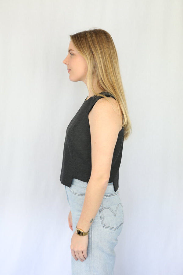 Side Cutout Crop Top