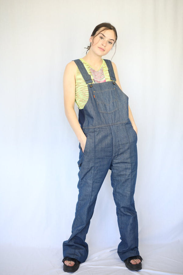 Denim Retro Ski Overalls