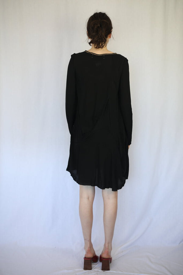 Long Sleeve Design Lines Dress