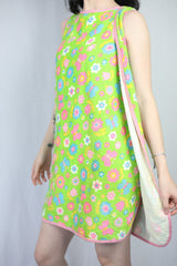 Vintage towel wrap dress