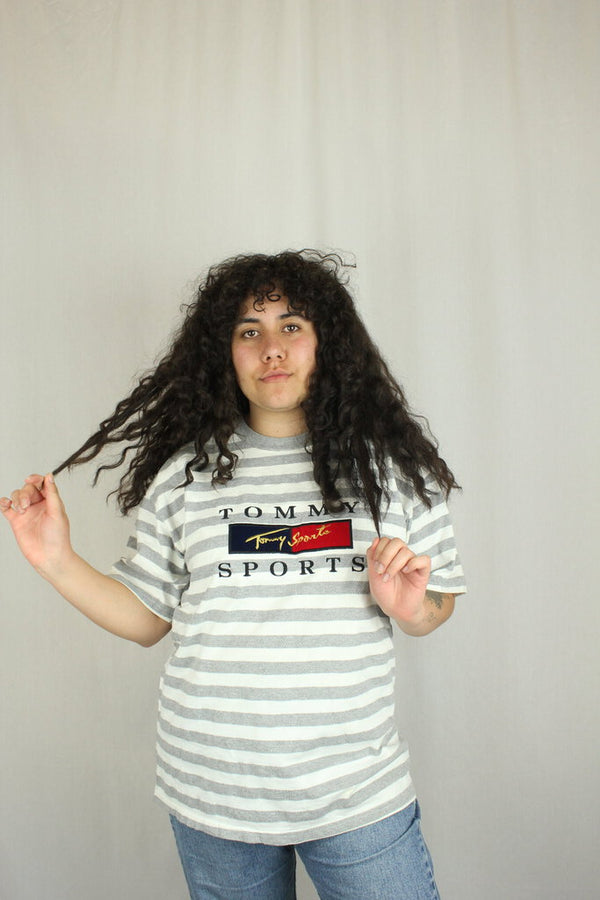 Striped Tommy Bootleg Tee