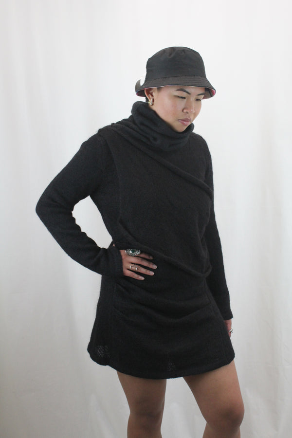Mohair Turtle Neck Jumper Dress