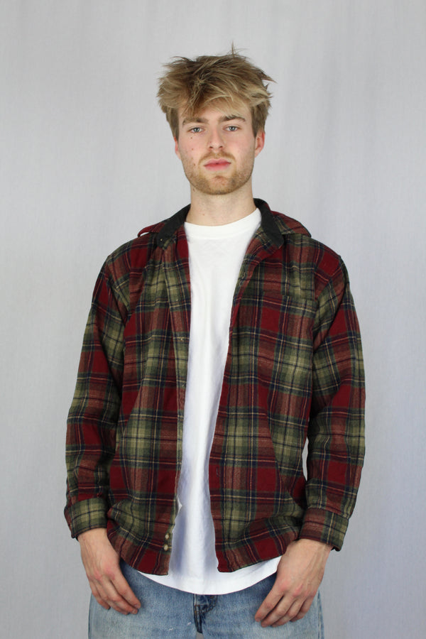 100% wool flannel shirt
