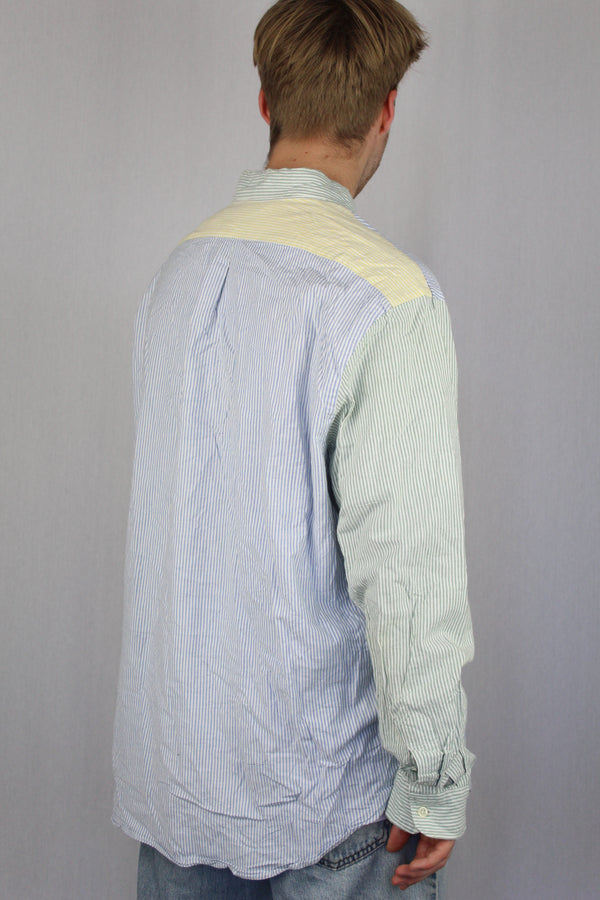 Multicoloured panelled shirt