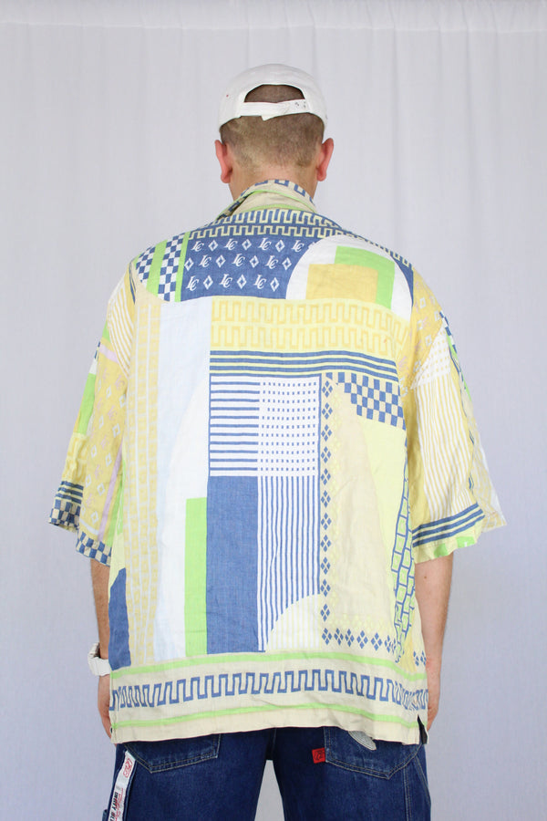 Printed Linen Summer Shirt