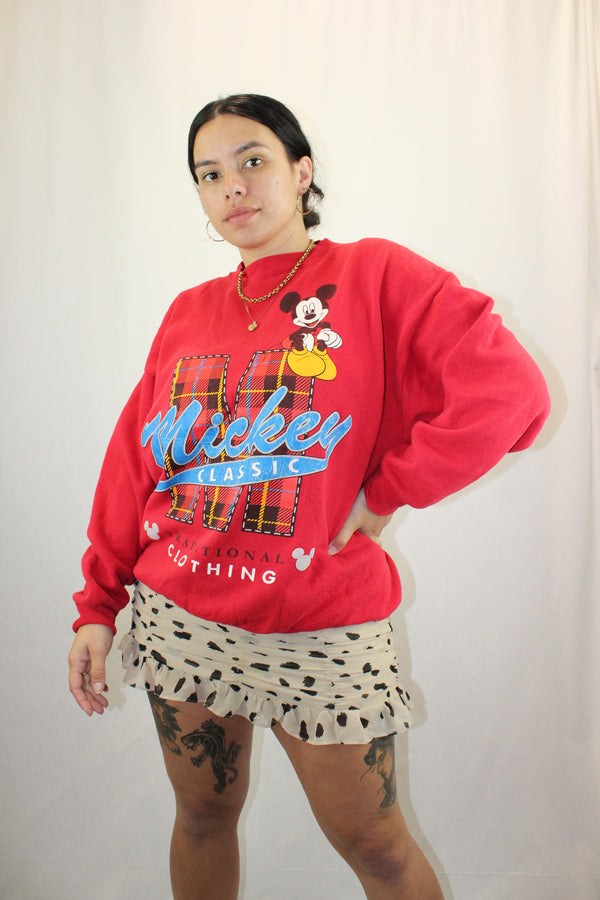 Crew Neck Mickey Mouse Sweatshirt
