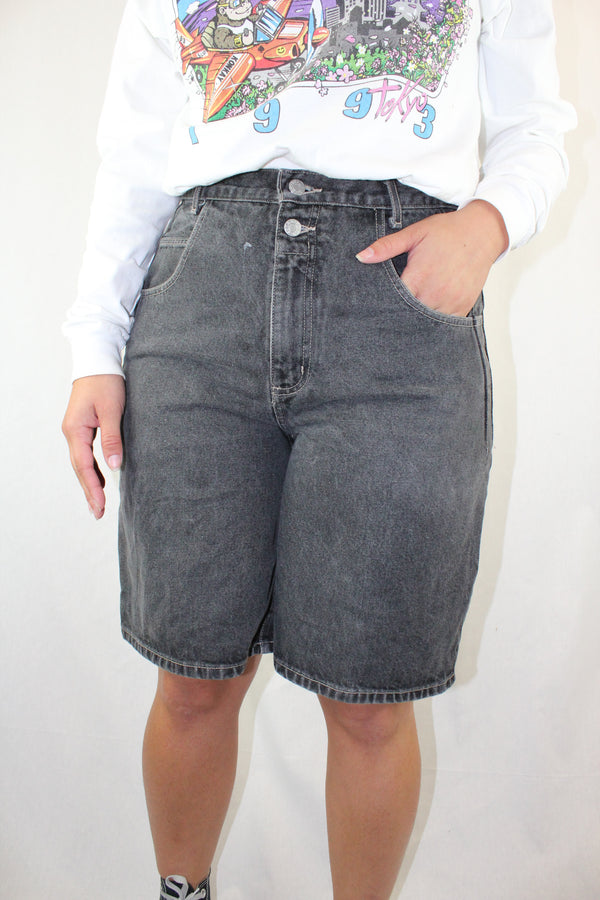 Knee Length Denim Shorts