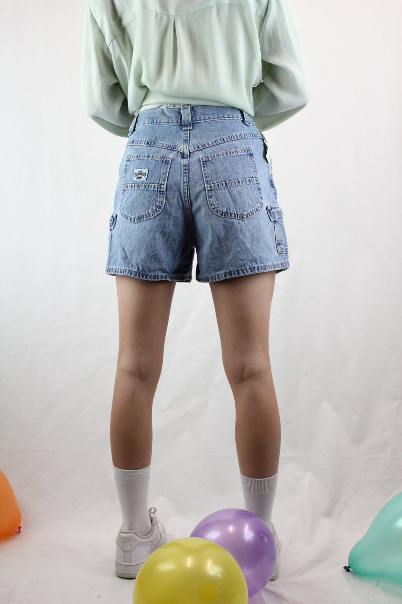 Lightweight High Waist Cargo Shorts