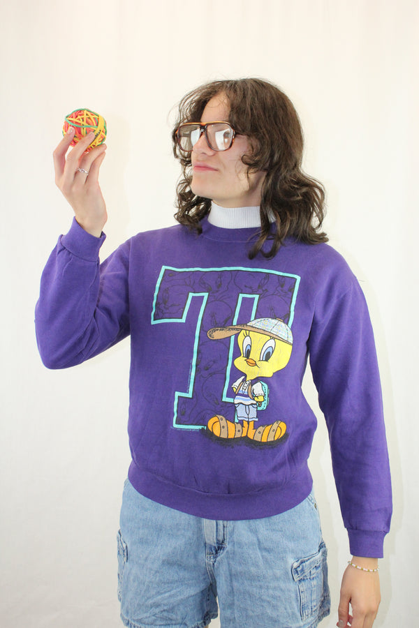 Crew Neck Tweety Bird Sweatshirt